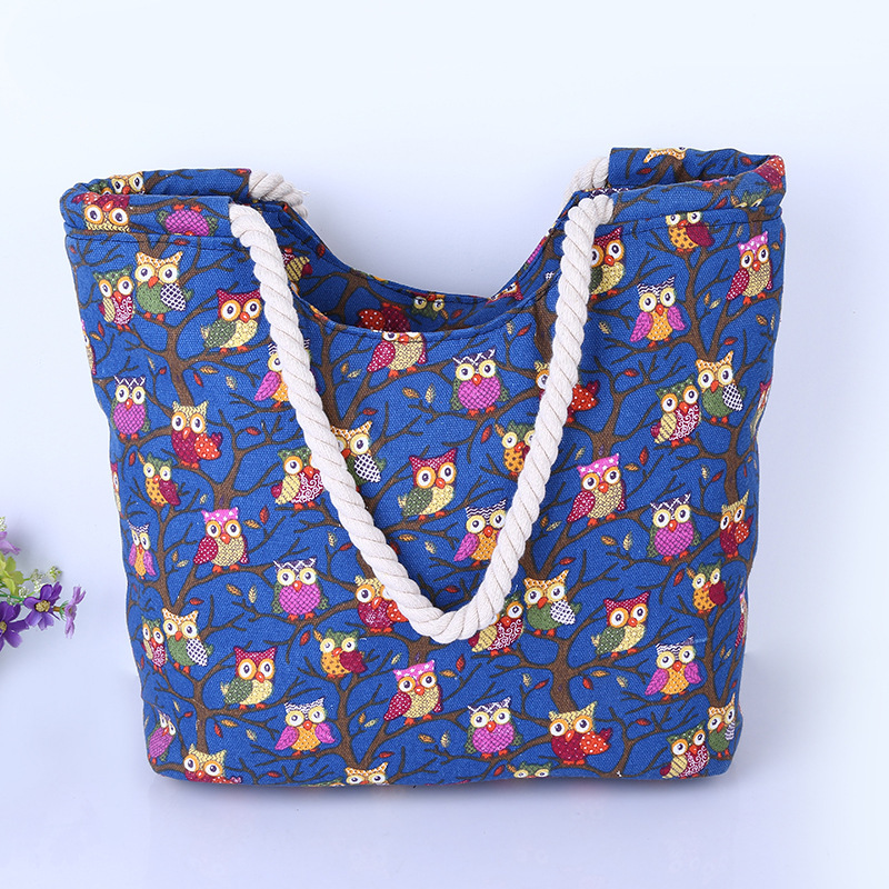 bd62fe2986bf Cute Large Canvas Tote Bag